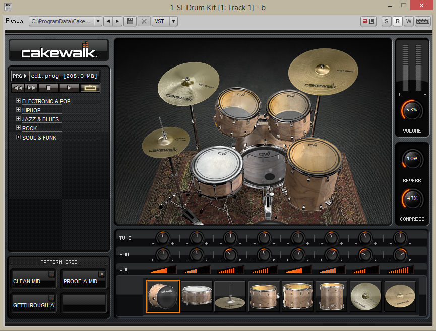 How To Use The SI-Drum Kit In Cakewalk Music Creator 6 | Malaker